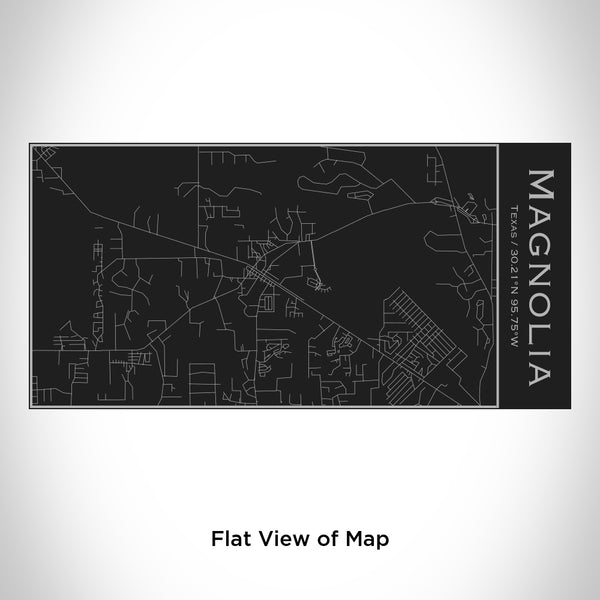 Magnolia - Texas Map Insulated Bottle in Matte Black