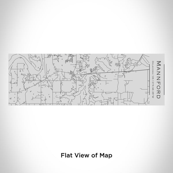 Rendered View of Mannford Oklahoma Map Engraving on 10oz Stainless Steel Insulated Cup with Sipping Lid
