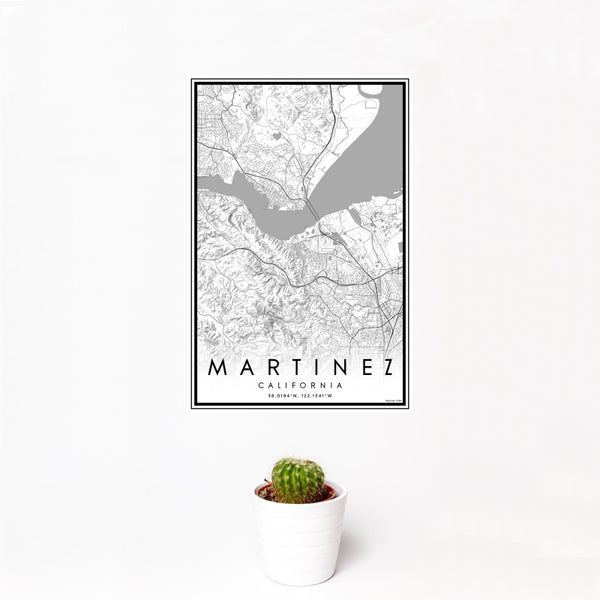 Martinez - California Classic Map Print