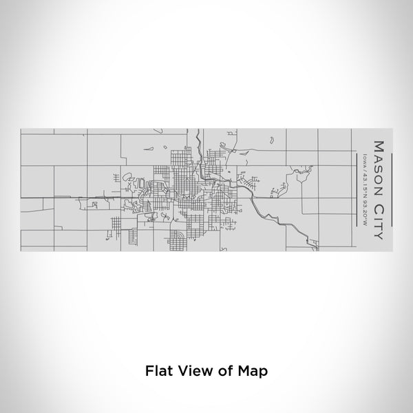 Rendered View of Mason City Iowa Map Engraving on 10oz Stainless Steel Insulated Cup with Sipping Lid