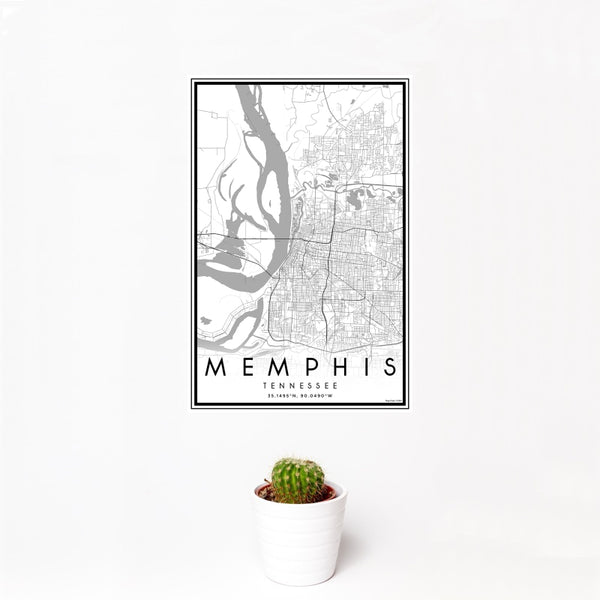 Memphis - Tennessee Classic Map Print