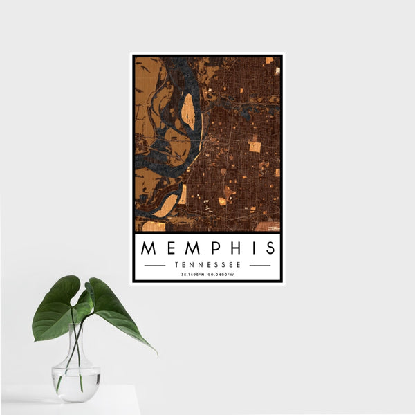 Memphis - Tennessee Map Print in Ember