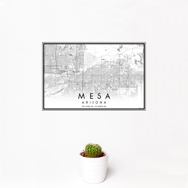 Mesa - Arizona Classic Map Print
