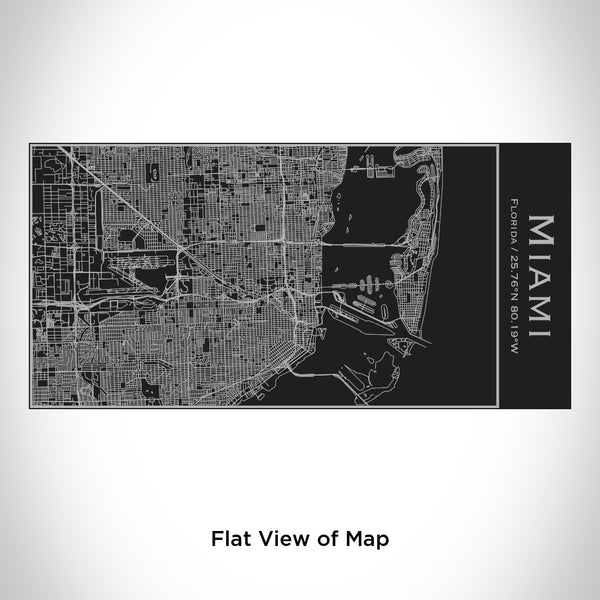 Miami - Florida Map Insulated Bottle in Matte Black