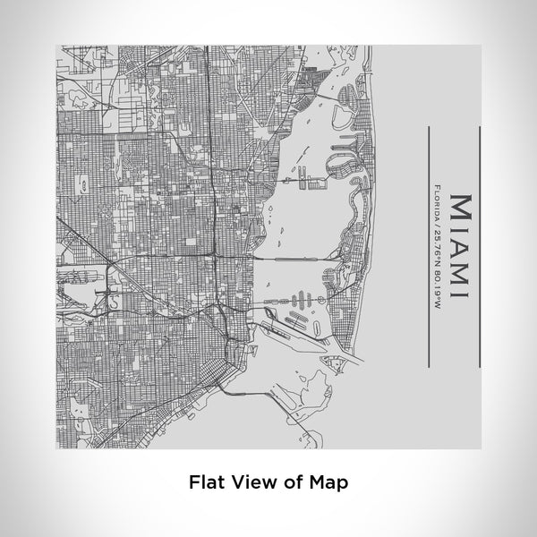 Miami - Florida Map Tumbler