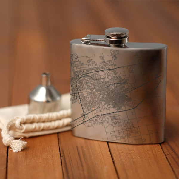 Midland - Texas Map Hip Flask