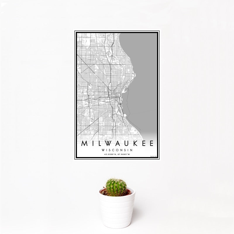 Milwaukee - Wisconsin Classic Map Print