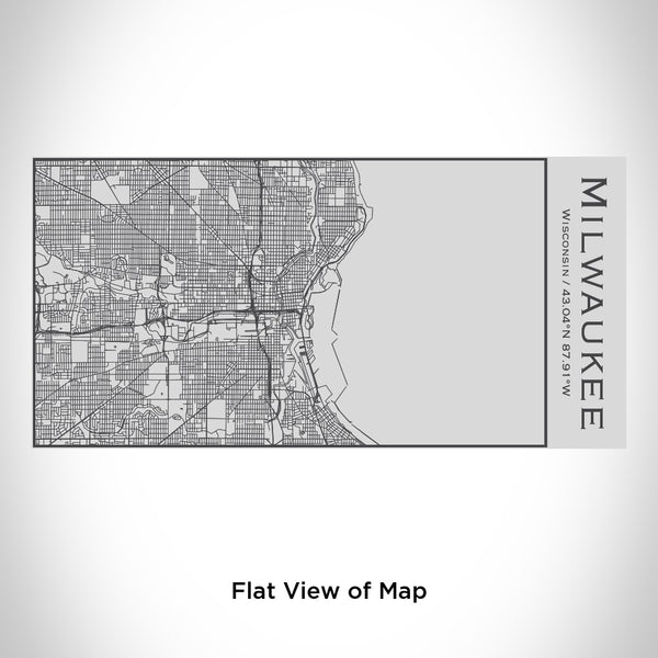Milwaukee - Wisconsin Map Insulated Bottle
