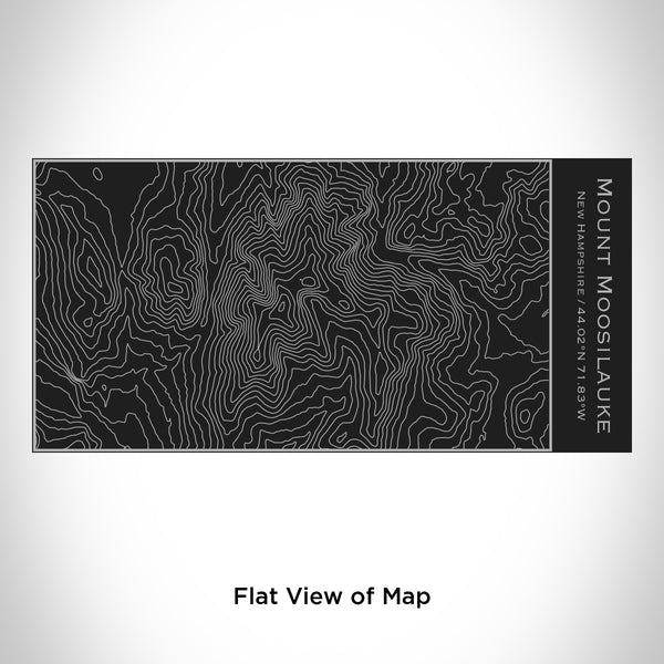 Rendered View of Mount Moosilauke New Hampshire Map Engraving on 17oz Stainless Steel Insulated Cola Bottle in Black
