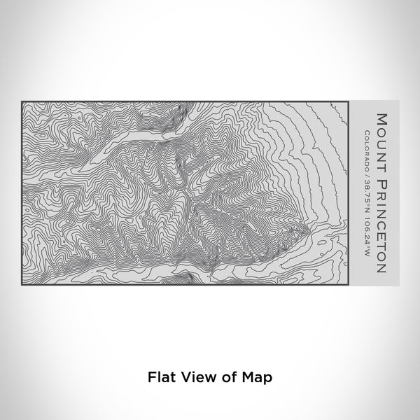 Rendered View of Mount Princeton Colorado Map Engraving on 17oz Stainless Steel Insulated Cola Bottle