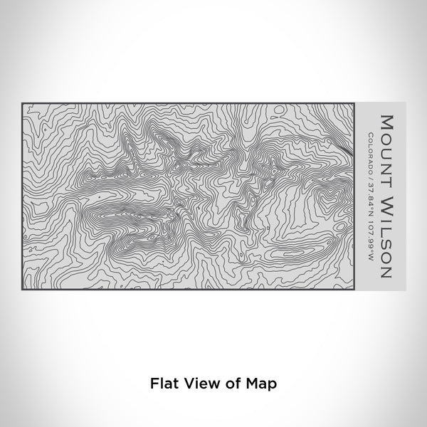 Rendered View of Mount Wilson Colorado Map Engraving on 17oz Stainless Steel Insulated Cola Bottle