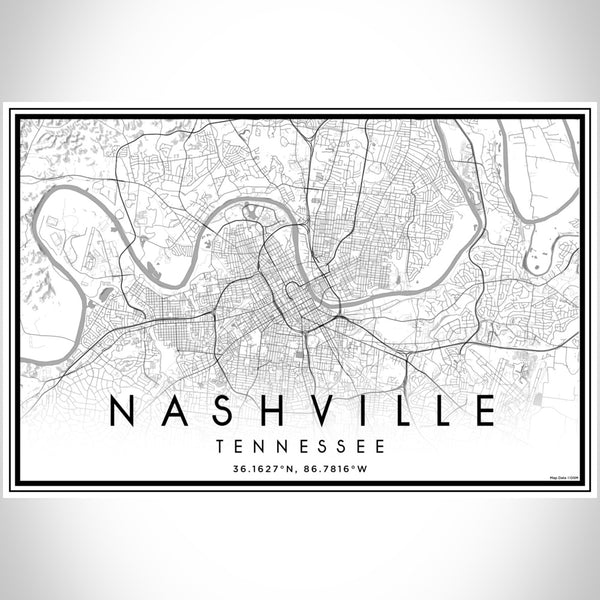 Nashville - Tennessee Classic Map Print
