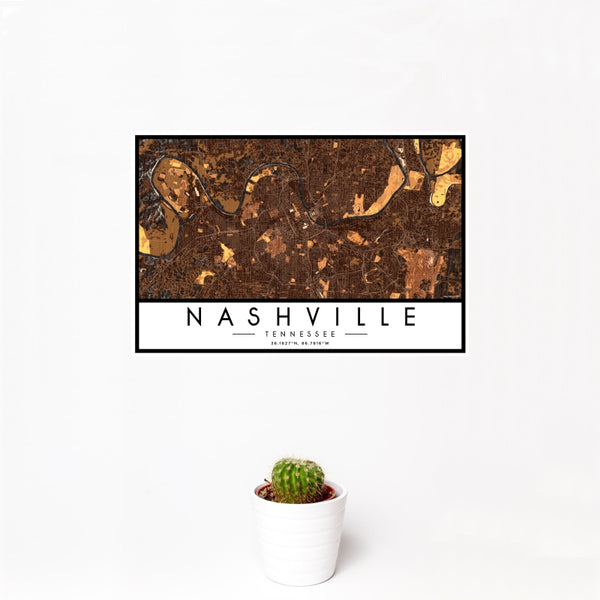 Nashville - Tennessee Map Print in Ember