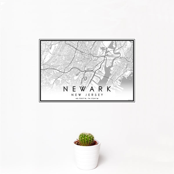 Newark - New Jersey Classic Map Print