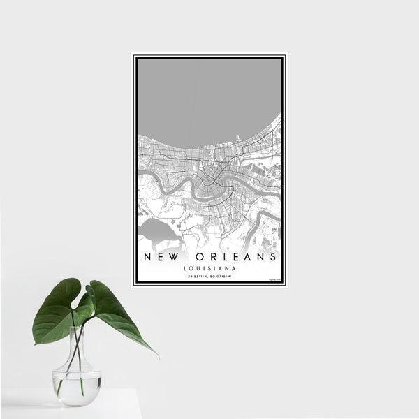 New Orleans - Louisiana Classic Map Print
