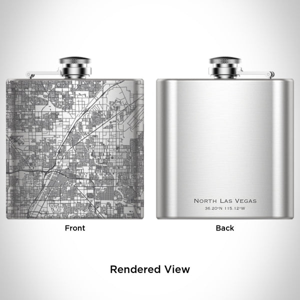 North Las Vegas - Nevada Map Hip Flask