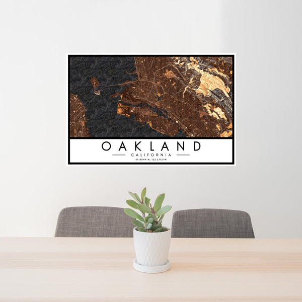 Oakland - California Map Print in Ember
