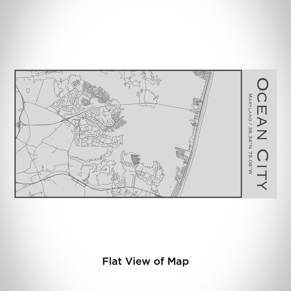 Ocean City - Maryland Map Insulated Bottle