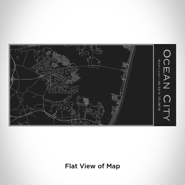 Ocean City - Maryland Map Insulated Bottle in Matte Black