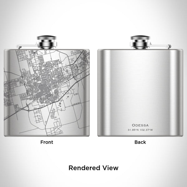 Odessa - Texas Map Hip Flask