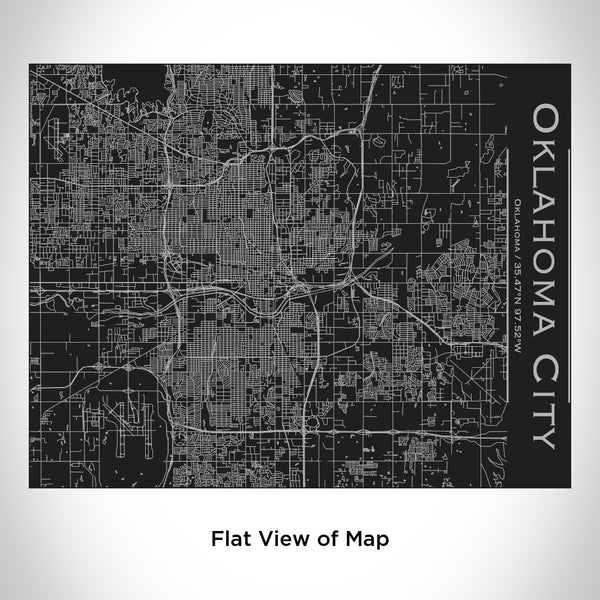 Oklahoma City - Oklahoma Map Bottle with Bamboo Top in Matte Black