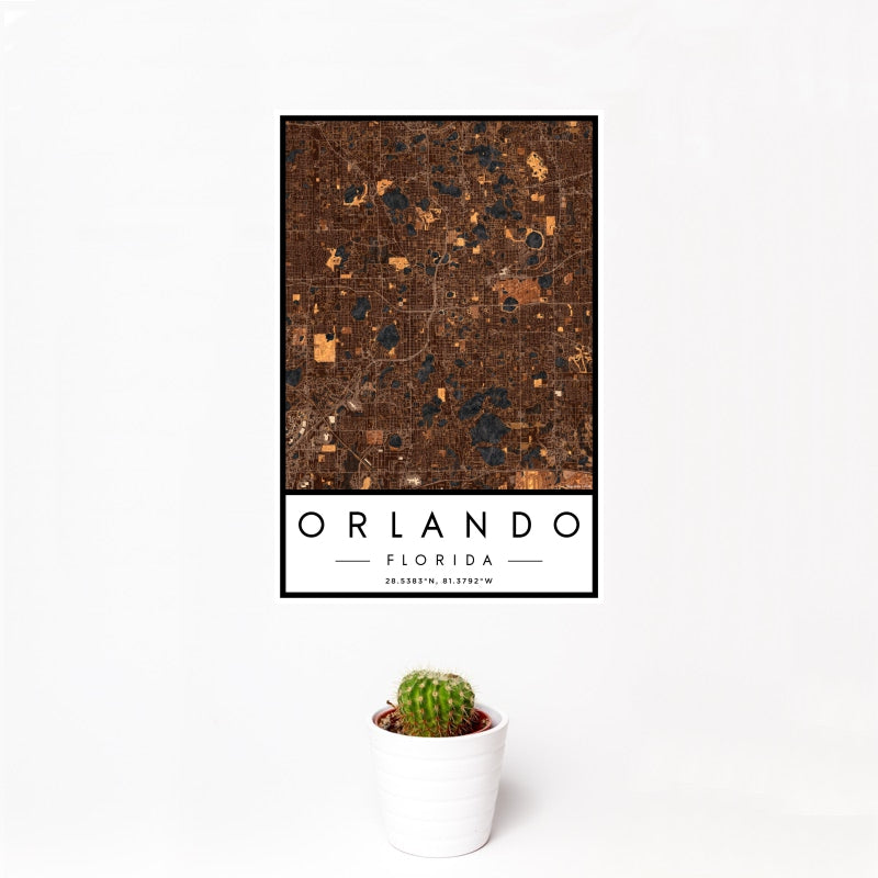 Orlando - Florida Map Print in Ember