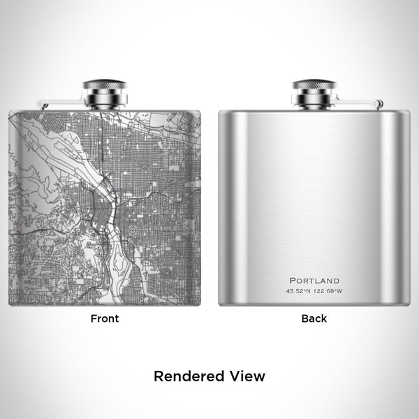 Portland - Oregon Map Hip Flask