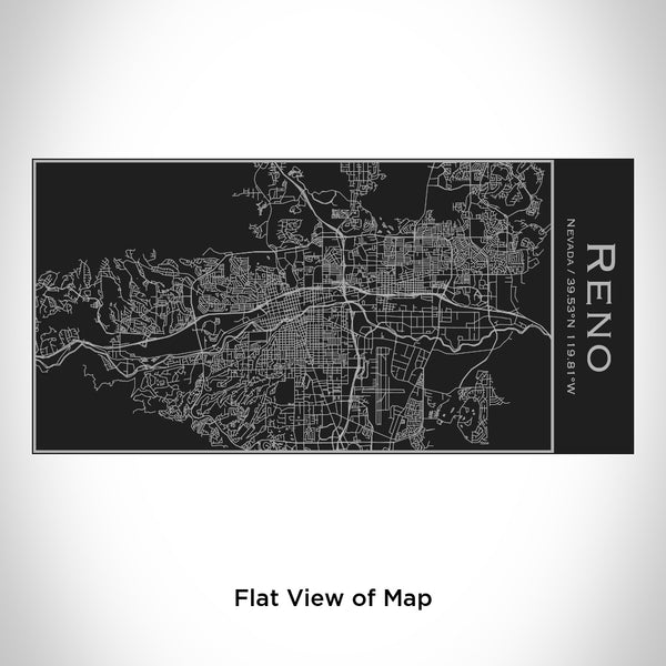 Reno - Nevada Map Insulated Bottle in Matte Black