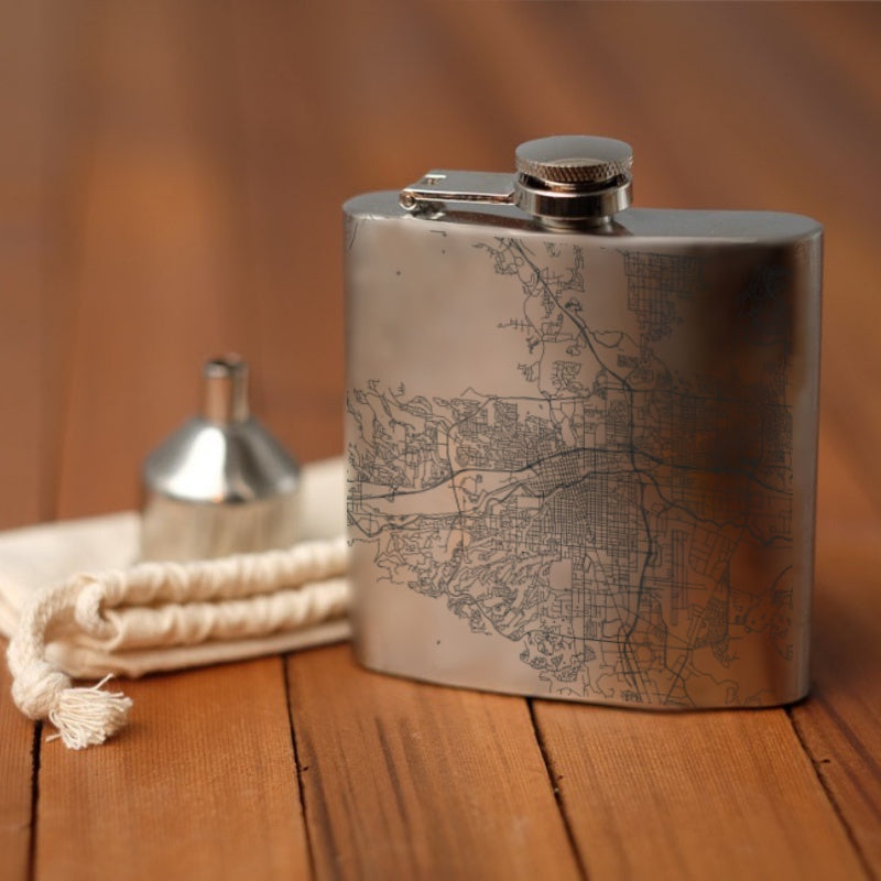 Reno - Nevada Map Hip Flask