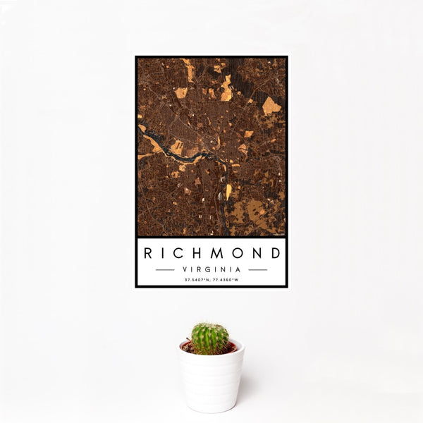 Richmond - Virginia Map Print in Ember