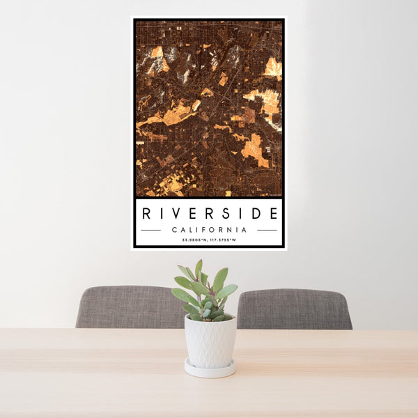 Riverside - California Map Print in Ember