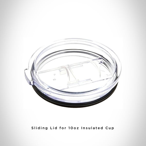 Closeup View of Sliding Lid for 10oz Stainless Steel Insulated Cup
