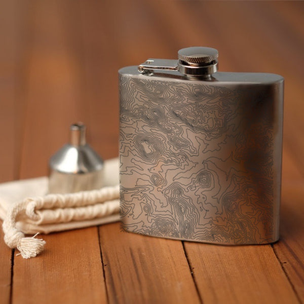 Rocky Mountain National Park - Colorado Map Hip Flask