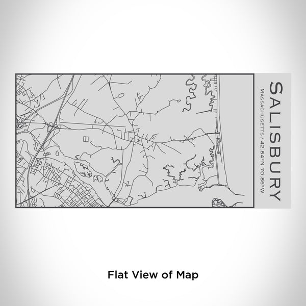 Rendered View of Salisbury Massachusetts Map Engraving on 17oz Stainless Steel Insulated Cola Bottle