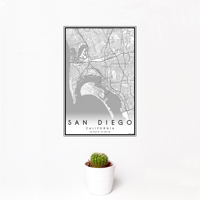 San Diego - California Classic Map Print