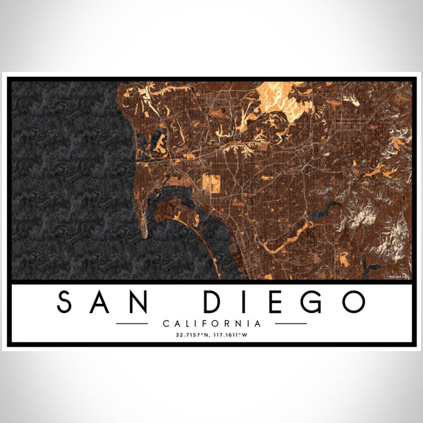 San Diego - California Map Print in Ember