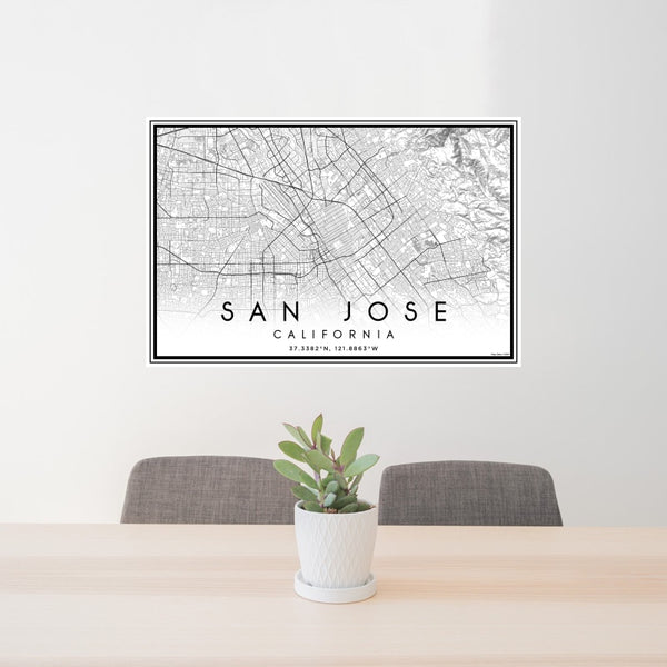San Jose - California Classic Map Print