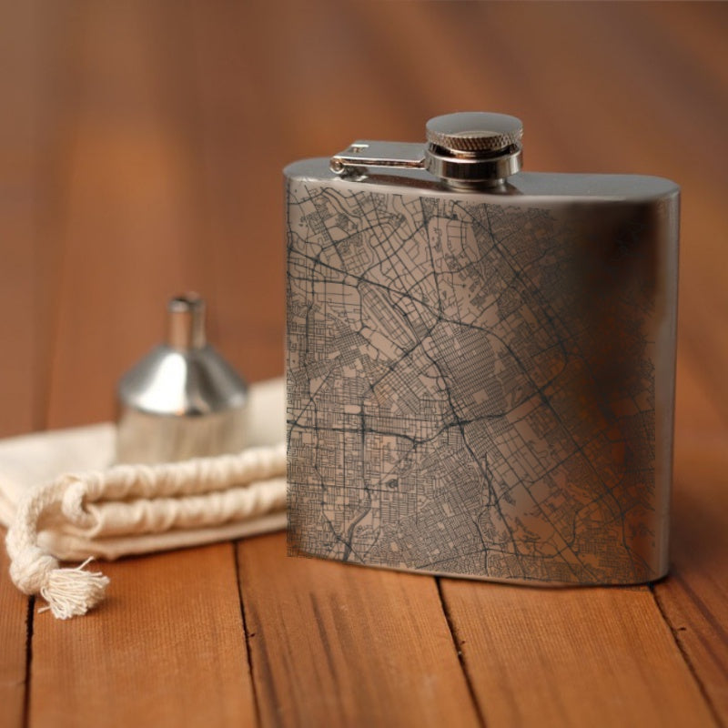 San Jose - California Map Hip Flask