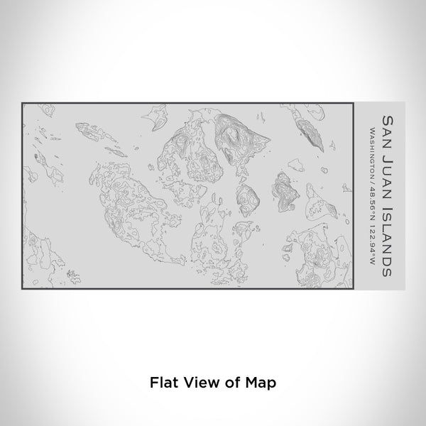 Rendered View of San Juan Islands Washington Map Engraving on 17oz Stainless Steel Insulated Cola Bottle