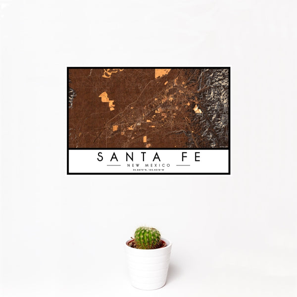 Santa Fe - New Mexico Map Print in Ember