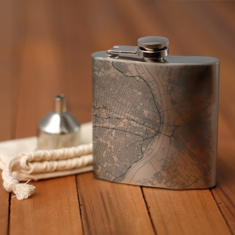 St. Louis - Missouri Map Hip Flask