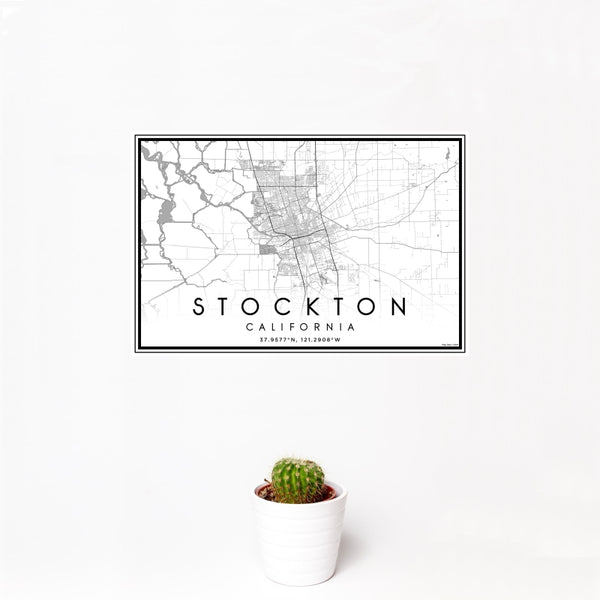 Stockton - California Classic Map Print