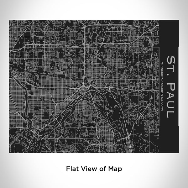 St. Paul - Minnesota Map Bottle with Bamboo Top in Matte Black