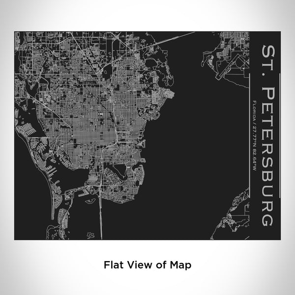 St. Petersburg - Florida Map Bottle with Bamboo Top in Matte Black