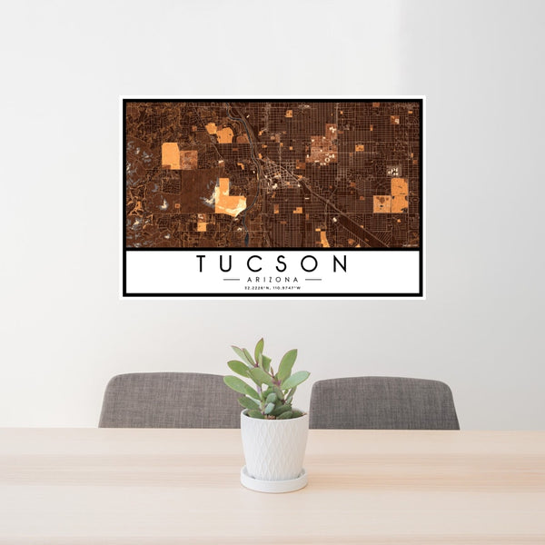 Tucson - Arizona Map Print in Ember