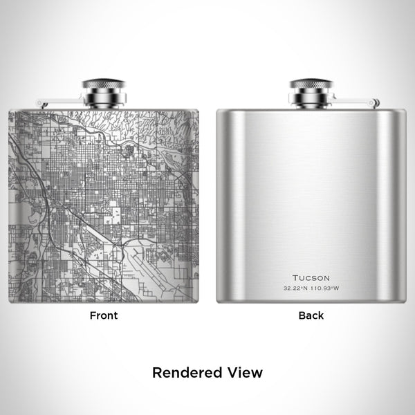 Tucson - Arizona Map Hip Flask