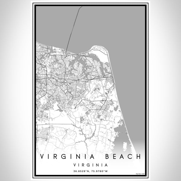 Virginia Beach - Virginia Classic Map Print