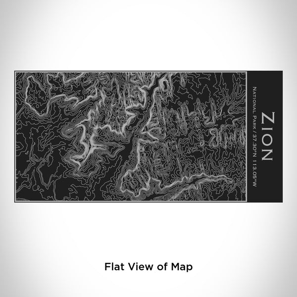 Zion National Park - Utah Map Insulated Bottle in Matte Black