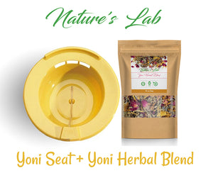 12 Organic Yoni Herbal Blend - Yoni Steam - Female Vaginal Steaming Herbs- Yoni Seat Duo Set 1oz