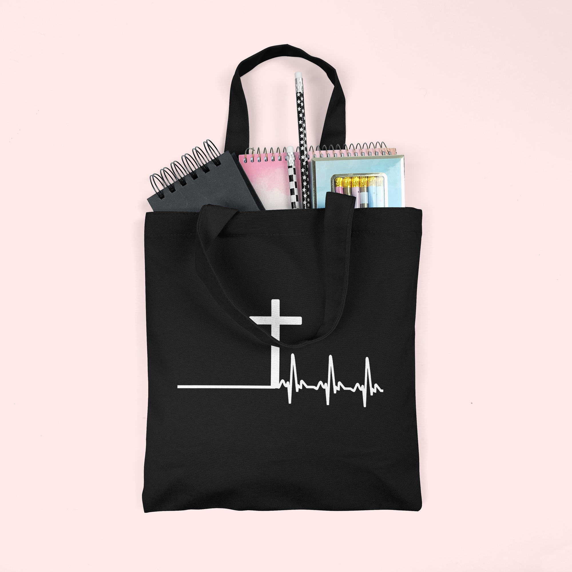 Cross Lifeline Christian Tote Bag : Made in NYC